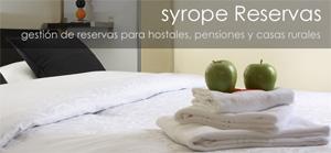 SYROPE Reservas, gestión de reservas online